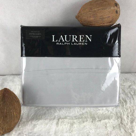 RALPH LAUREN Sateen KING Sheet Set Opal Gray NWT